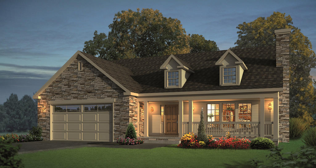 New Home Models on Small Ranch Homes